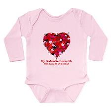 Godmother Loves Me Valentine Long Sleeve Infant Bo
