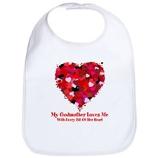 Godmother Loves Me Valentine Bib