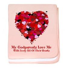 Godparents Love Me Valentine baby blanket