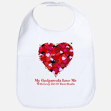 Godparents Love Me Valentine Bib