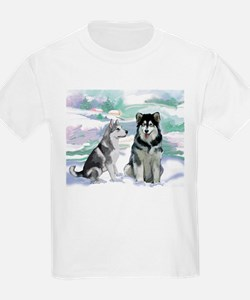 Alaskan Malamute Winter T-Shirt