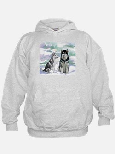 Alaskan Malamute Winter Hoodie