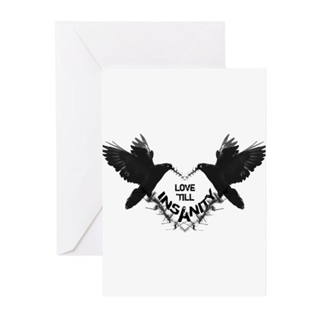 Love 'till Insanity Greeting Cards (Pk of 10)