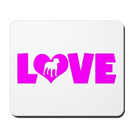 LOVE PIT BULL Mousepad