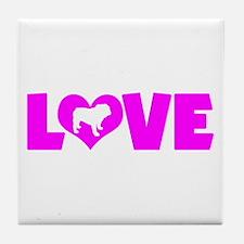 LOVE BULLDOG Tile Coaster