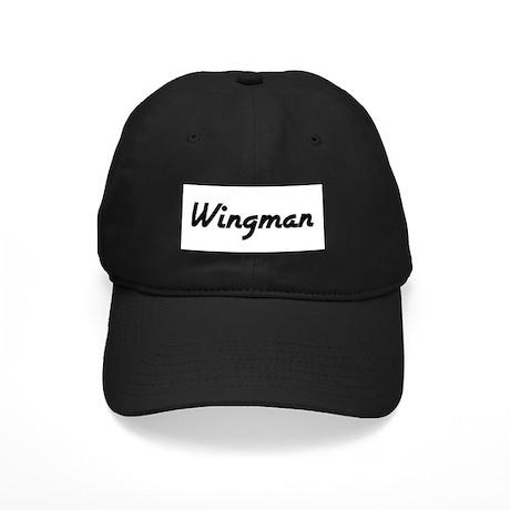 Wingman (Black Logo) - Black Cap