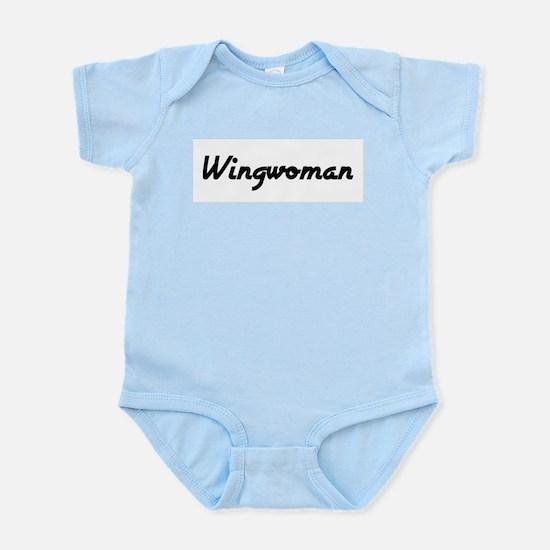 Wingwoman (Black Logo) -  Infant Creeper