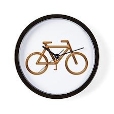 """Copper Bike"" Wall Clock"