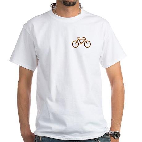 """""""Copper Bike"""" White T-Shirt"""