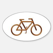 """Copper Bike"" Oval Decal"