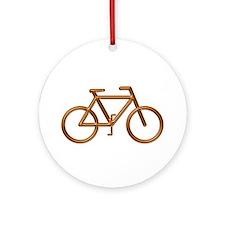 """""""Copper Bike"""" Ornament (Round)"""
