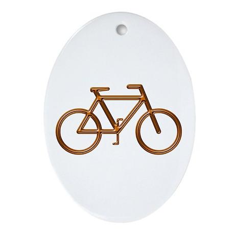 """""""Copper Bike"""" Oval Ornament"""