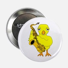 "Saxophone Chick 2.25"" Button"
