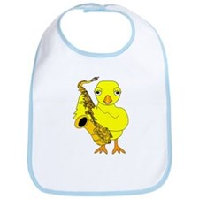 Saxophone Chick Bib