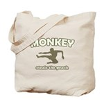 Monkey Steals The Peach Tote Bag