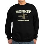Monkey Steals The Peach Sweatshirt (dark)