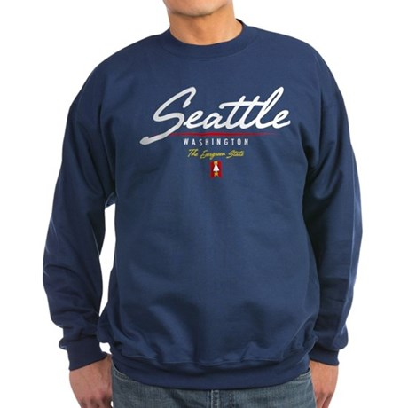 Seattle Script Sweatshirt (dark)