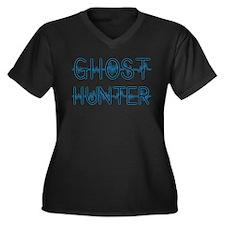 Ghost hunter Women's Plus Size V-Neck Dark T-Shirt