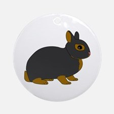 Netherland Dwarf Rabbit Ornament (Round)