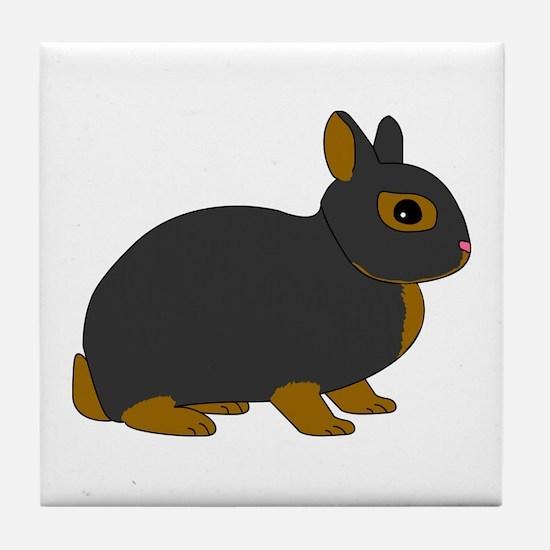 Netherland Dwarf Rabbit Tile Coaster