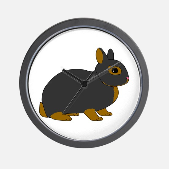 Netherland Dwarf Rabbit Wall Clock