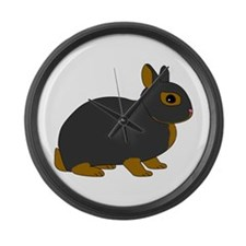 Netherland Dwarf Rabbit Large Wall Clock