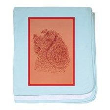 American Water Spaniel baby blanket