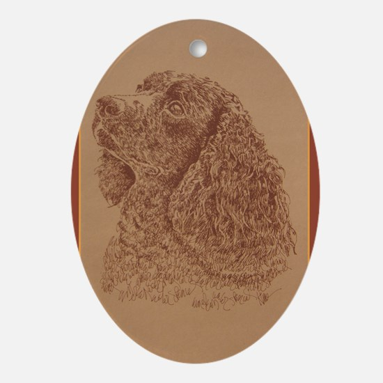 American Water Spaniel Ornament (Oval)