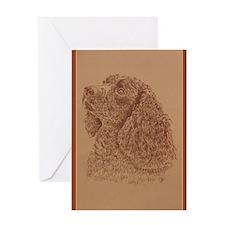 American Water Spaniel Greeting Card