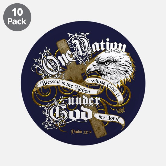 "One Nation - Blessed 3.5"" Button (10 pack)"