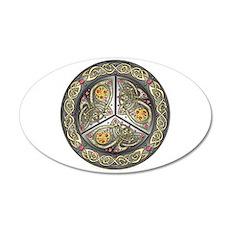 Bejeweled Celtic Shield 22x14 Oval Wall Peel