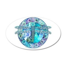 Cool Celtic Dragonfly 22x14 Oval Wall Peel