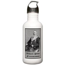 Albert Pike Freemason Water Bottle