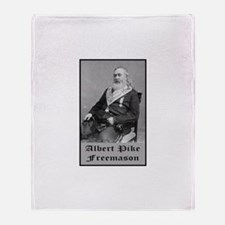 Albert Pike Freemason Throw Blanket