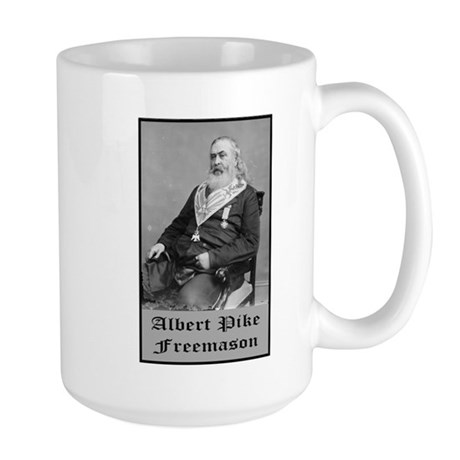 Albert Pike Freemason Large Mug