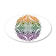 Celtic Mandala Emblem 22x14 Oval Wall Peel