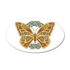 Celtic Butterfly 22x14 Oval Wall Peel