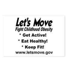 Let's Move Fight Childhood Obesity Postcards (Pack