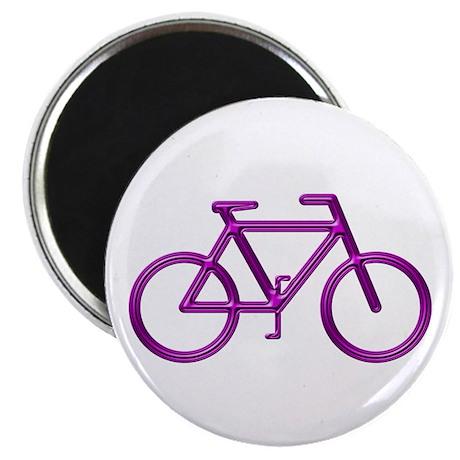 """Purple Bike"" 2.25"" Magnet (100 pack)"