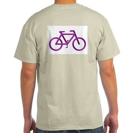 """Purple Bike"" Ash Grey T-Shirt"