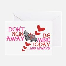 Running Valentine Greeting Card
