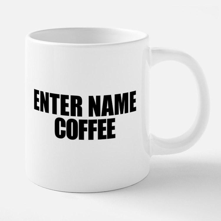 Personalized With Name 20 oz Ceramic Mega Mug