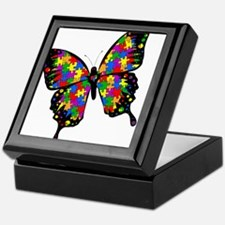 Autism Butterfly Keepsake Box