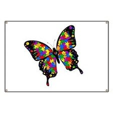 Autism Butterfly Banner