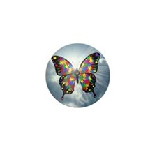 "Autism Butterfly Sky Button - 1"" (10 pack)"