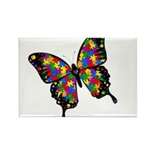 Autism Butterfly Rectangle Magnet