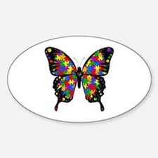 Autism Butterfly Sticker (Oval)