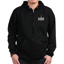 BDB Logo Standard Fit Dark Zip Hoody