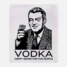 Vodka Throw Blanket