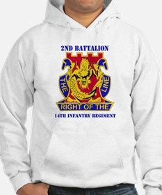 DUI - 2nd Bn - 14th Infantry Regt with Text Hoodie